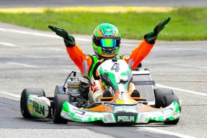 Alex Bertagnoli extended his Leopard Junior championship lead with two wins, adding a Yamaha Junior victory as well (Photo: Kathy Churchill - Route66kartracing.com)