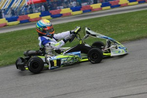 A photo finish gave David Malukas his second TaG Junior victory on the season, his first with CompKart (Photo: EKN)