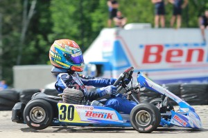 Lachlan DeFrancesco looks to build on his Round Four victory, and the championship lead going into South Bend (Photo: EKN)