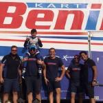 Team BENIK celebrates Lachlan DeFrancesco's championship