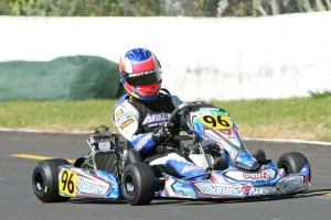 Daniel Connor (#96) took the series' points lead in 125cc Rotax Max Light at Auckland on Sunday (Photo: Fast Company/Graham Hughes)