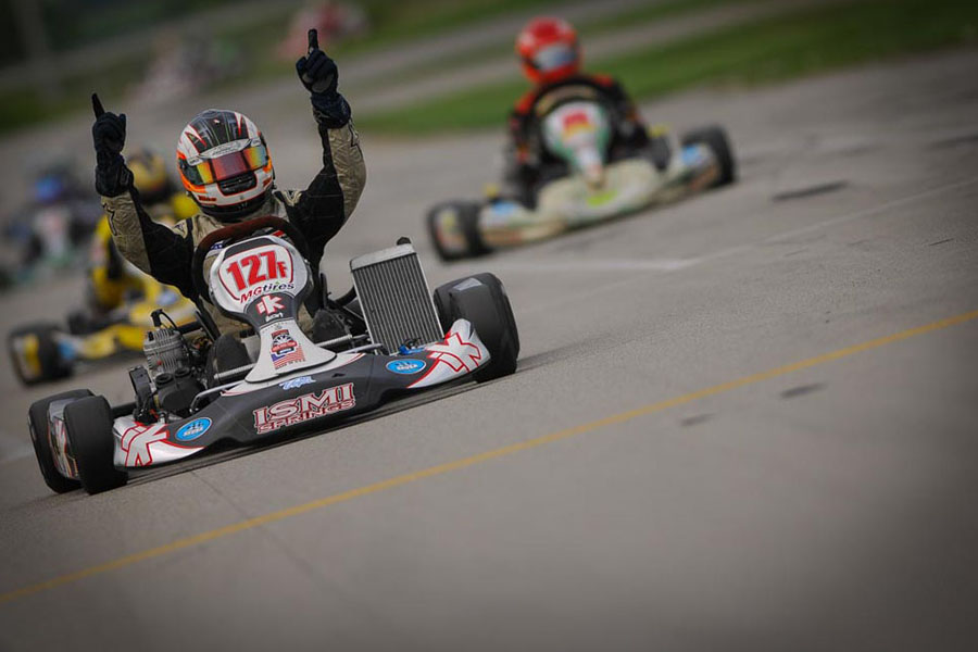 Jesus Rios Jr. drove to victory at the SKUSA SummerNationals twice in the TaG Senior division (Photo: On Track Promotions - otp.ca)