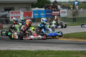 Tight racing all weekend long in New Castle for the SKUSA SummerNationals (Photo: EKN)