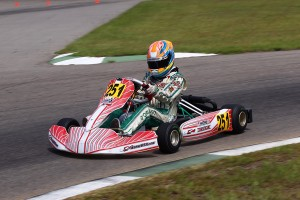 Michael D'Orlando did not get any breaks in his fight for the Junior Max title in Kershaw, SC (Photo Courtesy of D'Orlando Racing)
