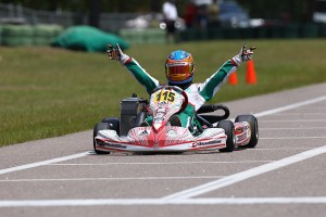Nicholas D'Orlando scored the Mini Max national championship in Kershaw, SC last weekend (Photo Courtesy of D'Orlando Racing)