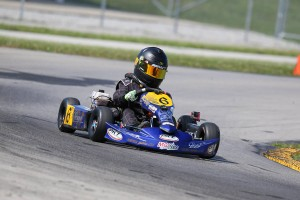 Adam Brickley swept the Kid Kart division for a third time in 2015 (Photo: Kathy Churchill - Route66kartracing.com)