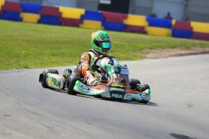 Alex Bertagnoli dominated the Junior ranks, winning in both Leopard and Yamaha each day (Photo: Kathy Churchill - Route66kartracing.com)