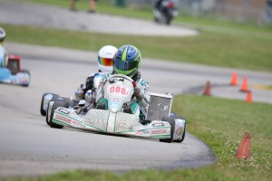 Sam Cate was one of two local drivers to win in Leopard Pro (Photo: Kathy Churchill - Route66kartracing.com)