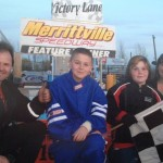 Tony Kelly - now racing limited 4 Cylinder schedule Saturday Nights focusing on his children Anthony and Brittany's Kart Racing – won his Tuesday Night Feature (Photo: Diane Carriere)