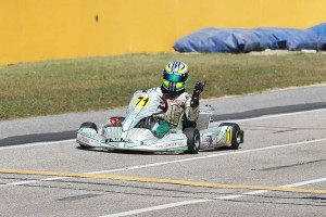 Dustin Stross helped his Rok GP Senior championship bid with a sweep at MRP (Photo: EKN)
