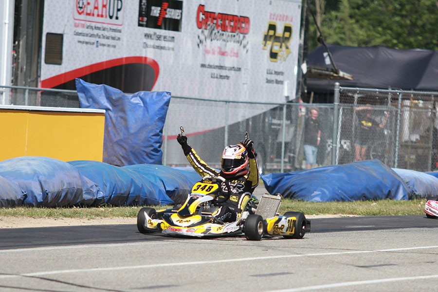 Ryan Norberg led all 24 laps of the Leopard Pro feature for his first major Senior victory (Photo: EKN)