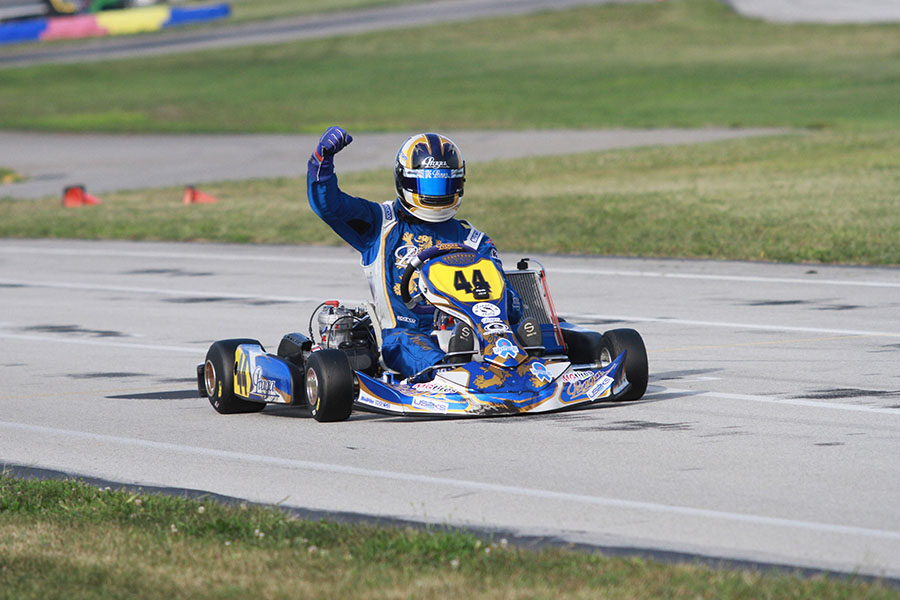 Andrick Zeen passed 55 karts on the day to score the Leopard Pro victory (Photo: EKN)