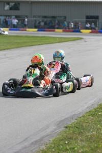 Brandon Lemke held off Zach Holden for the win in Yamaha Junior (Photo: EKN)
