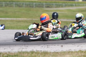 Robert Noaker III won a crazy finish in the Mini Rok Cadet for his first victory (Photo: EKN)