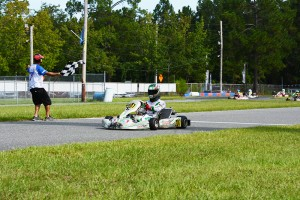 Gangi Jr. crossed the stripe in second during the fourth round in Jacksonville (Photo by: Adam Parker)