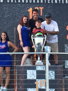 Jeremy Fletcher is all smiles as he is awarded the Vortex Micro ROK championship trophy this past weekend in Orlando  (Photo: Jerry Brown)