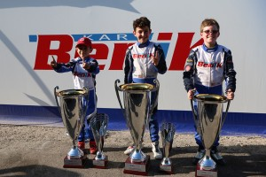 Lachlan DeFrancesco (Center), Reece Gold (Right) and James Egozi (Left) claimed championships and vice championships in the ROK Cup USA program