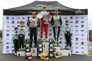 Brad Jenner stood on top of the KA TaG Podium (Pic: Coopers Photography)