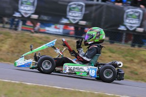 Jay Hanson was victorious in KA12 (Pic: Coopers Photography)
