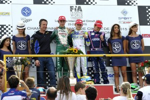 American Logan Sargeant on top of the KFJ podium (Photo: Press.net Images)