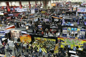 PRI Trade Show is a gathering of all forms  of motorsports, including karting companies and racers (Photo: pri2015.com)