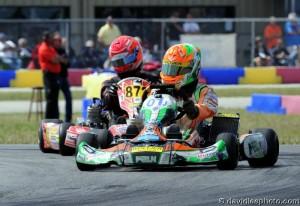 The 'Manchild' team of Brandon Lemke and TJ Koyen finished third, one lap down (Photo: DavidLeePhoto.com)