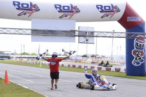Tom Hankinson drives away with the win and the championship in Shifter Master ROK (Photo: Flying Home Productions)