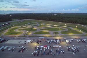 Bird's eye veiw of NOLA Sprint Kart Championship Race #8