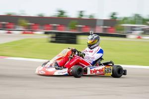 James Dix of Lake Charles clinches the 2015 Masters Max Championship aboard his Birel Kart