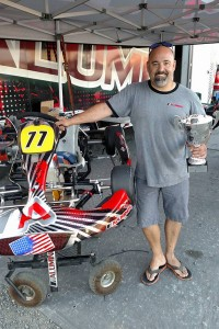 Aluminos owner Rob Soares added another victory aboard the new '4-Stroke' chassis at the KPX Karting Championship Briggs LO206 Heavy category in Sonoma (Photo: Aluminos)