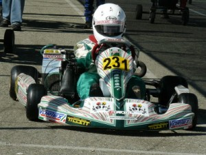 Carpenter in his Junior Rotax machine in 2011