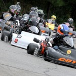 Sean Meier leads the Senior Pro Gas Animal pack at Barnesville, Ga (Photo: Double Vision Photography)
