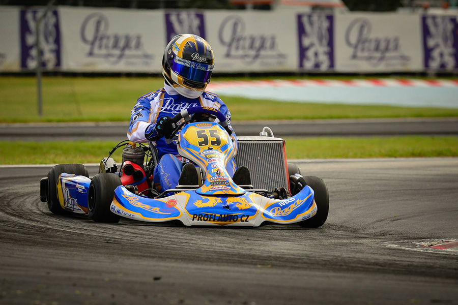 Andrick Zeen on-track at the La Conca circuit for the 2015 CIK/FIA World Karting Championships (Photo: Praga)