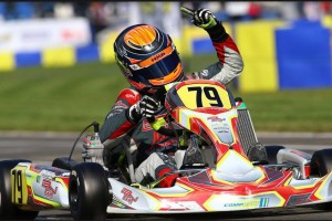 David Malukas dominated in Le Mans to become the X30 Junior world champion (Photo: IAME International Final)