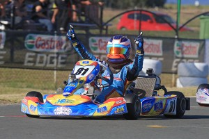 Victorian Oscar Piastri claimed the win in the KF3 class (Photo: Coopers Photography)