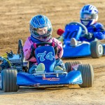 Stars of tomorrow, Jacey Voss of Lake Elsinore and San Pedro's Caden Kahne honing their skills in the Jr Class at Perris Raceway (Photo: Schnarzy)