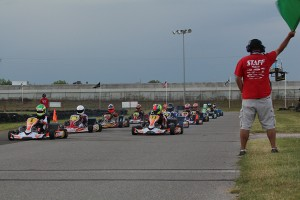 The S2 field getting ready for the green flag at the finale event for the Texas ProKart Challenge (Photo: Dreams Captured Photography)