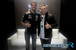 Daniel Ricciardo with Phil Giebler during the F1 United States Grand Prix (Photo: PSL Karting)