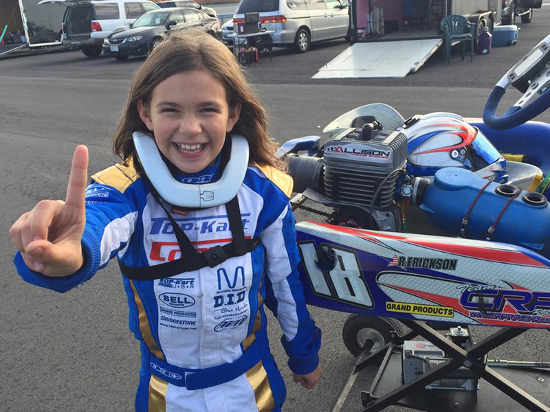 Another happy Top Kart driver - Riley Erickson