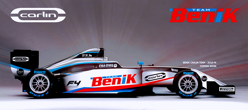 The Benik Carlin Team coming in 2016 (Photo: Benik-Kart.com)