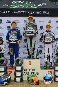 The KA12 podium finishers (Pic: Coopers Photography)