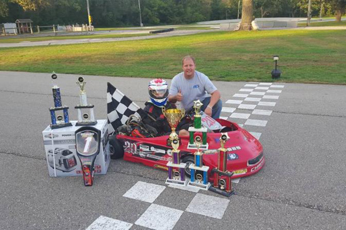 Justin Wishard won 206 Junior on his 2015 Coyote Wide Track (Photo: Wishard family)