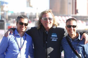 Superkarts! USA CEO Tom Kutsher with MG Tires owners Marcelo and Gianfranco Ventri (Photo: On Track Promotions - otp.ca)