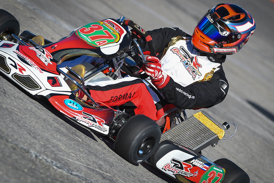 Danny Formal powered his DRT Racing DR Kart to the pole position in S1 (Photo: On Track Promotions  - otp.ca)