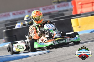 Lemke in action at the 2015 SKUSA SuperNationals in Las Vegas (Photo: On Track Promotions - otp.ca)
