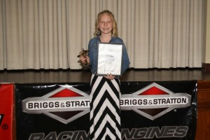The final prize of the afternoon was an $800 Briggs & Stratton Invertor Generator. Novice 1 racer Hana Rothwell took home the prize (Photo: Julie Davidson)