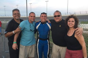 Nick Landi scored the biggest win of his career outrunning Brandon Lemke to win the Yamaha Senior feature on Wednesday (Photo: Alycia Hodapp - EKN)