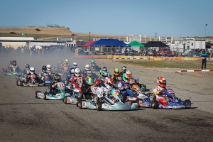 Full fields are expected once again for the second stop of the California ProKart Challenge, set for March 4-5 at Willow Springs (Photo: DromoPhotos.com)