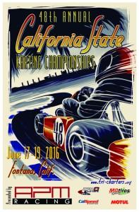 California State Karting Championship CSKC 2016 poster web