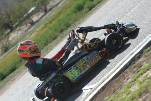 Harry Gottsacker is an emerging shifterkart pilot, continually improving under the Champion Racing / Intrepid banner (Photo: eKartingNews.com)